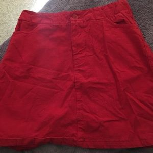 Brandy Melville red rare Juliette skirt